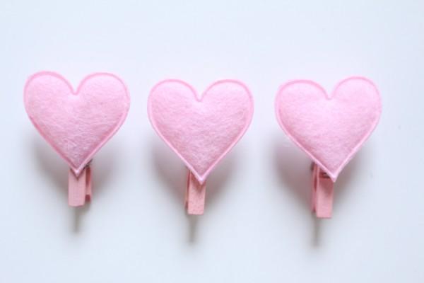 Les coeurs roses