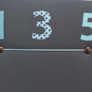Pêle-mêle gris chiffres