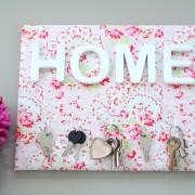 Porte-clés HOME flower