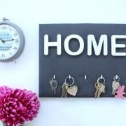Porte-clés HOME gris anthracite