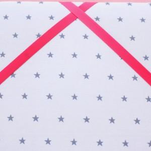 Cadre barrettes étoiles grises