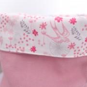 Panière Hirondelle rose