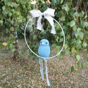 Mobile oiseau bleu