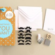 Cartes à créer Customise ton courrier Moustache