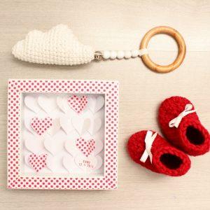Ensemble cadeaux de naissance personnalisable avec un prénom
