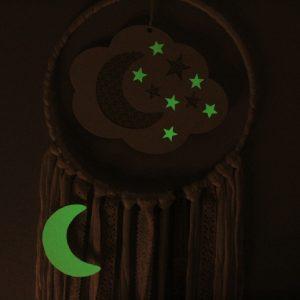 Attrape-rêve lumineux lune