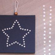 Cadre lumineux étoile d'étoiles bleu