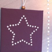 Cadre lumineux étoile d'étoiles prune