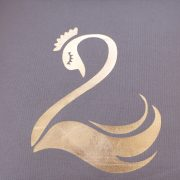 Coussin cygne gold