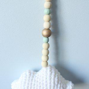 Guirlande nuage perles vertes
