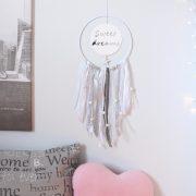 Attrape-rêve Sweet dream effet miroir blanc et argent