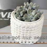 Cache-pot crochet sur mesure