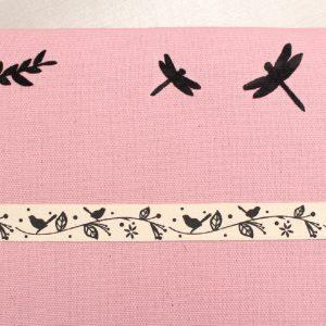 Cadre barrettes rose aux Oiseaux