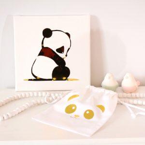 Cadre et pochon panda gold