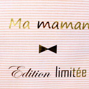 """Coussin à message """"Ma maman Edition limitée"""" Idée cadeau"""