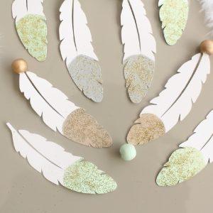 Attrape-rêve plume personnalisé dans vos couleurs