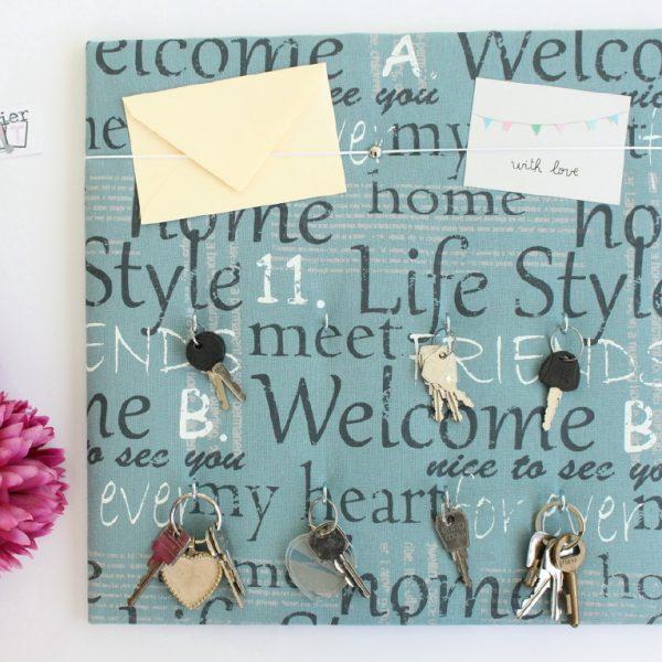 Panneau Cadre porte-clés pratique avec ruban pour courrier