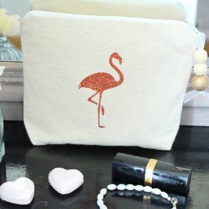 Trousse à maquillage Pochette de sac flamingo
