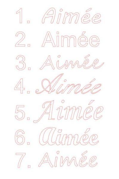 Typographies prénom