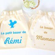 """Duo de Pochons Maman Bébé """"Le bazar"""" Cadeau de naissance"""