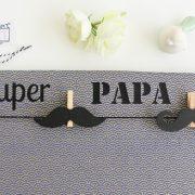 Pêle-mêle photo Moustache SUPER PAPA DE