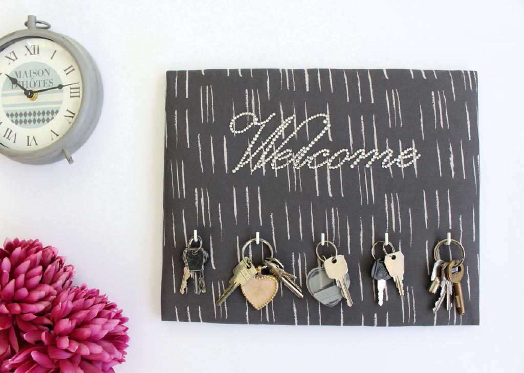 Porte-clés-Welcome-gris