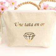 """Trousse Pochette de sac """"Diamant"""" personnalisable or brillant"""