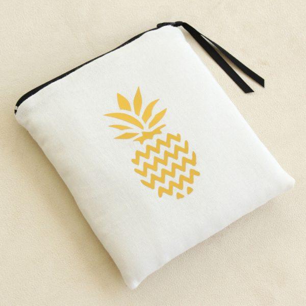 Trousse Pochette de sac zippée molletonnée ANANAS OR