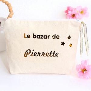 Trousse Pochette étoiles Le bazar de personnalisable