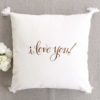 Coussin i love you Cadeau de mariage Saint Valentin Anniversaire couple
