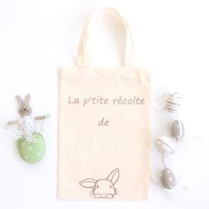Le sac tote bag de Pâques personnalisé pour chasse aux oeufs