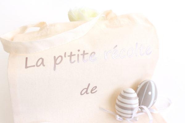 Le sac tote bag de Pâques personnalisé pour chasse aux œufs