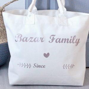Sac Cabas Bazar Family Personnalisable