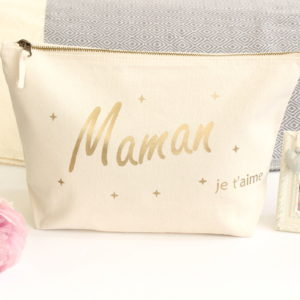 Grande Trousse de toilette maquillage Maman Personnalisable