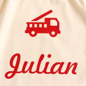 Pochon sac Camion personnalisable avec un prénom