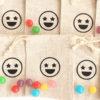Pochon émoticône pour bonbons Cadeaux invités anniversaire événements