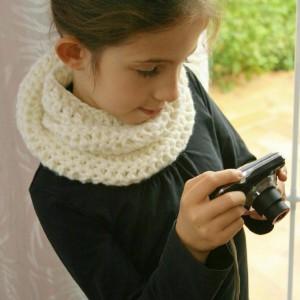 snood enfant écharpe tube laine