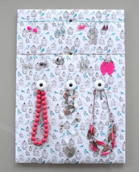 """Porte bijoux """"Oiseaux"""" Décoration murale"""