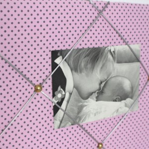 Pêle-mêle Plumetis rose