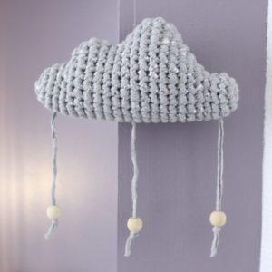 Mobile nuage argent