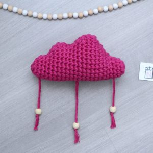 Mobile nuage rose et perles