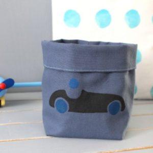 panier souple bolide bleu