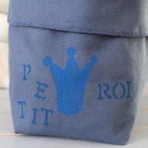 Panier bleu petit roi
