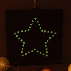 Cadre lumineux étoile d'étoiles