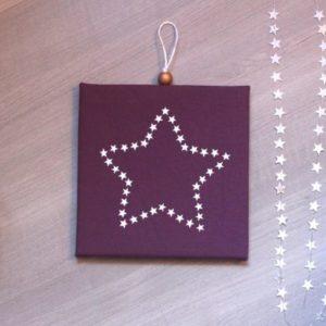 Cadre phosphorescent étoile d'étoiles prune