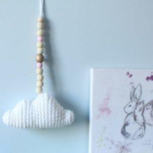 Guirlande nuage perles roses