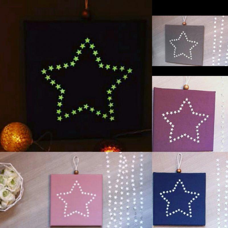 Cadre phosphorescent étoile d'étoiles