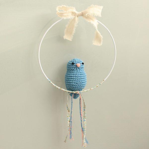 Mobile suspension oiseau bleu et liberty