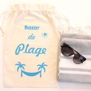 """Big Pochon sac été """"Bazar de Plage"""""""