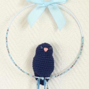 Mobile suspension oiseau bleu marine et liberty